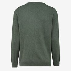 PORTRAIT COTTON CREW NECK KNIT  FOREST MELANGE  hi-res