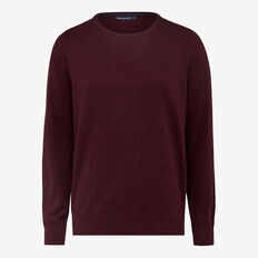 PORTRAIT COTTON CREW NECK KNIT  PLUM MELANGE  hi-res
