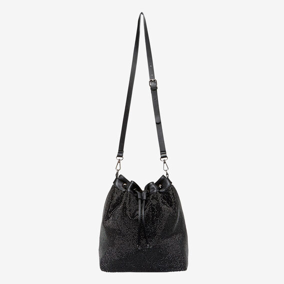 LARGE SPARKLE BUCKET BAG  JET BLACK  hi-res