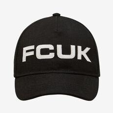 FCUK LOGO CAP  BLACK  hi-res