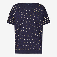 STUD FRONT TEE  NOCTURNAL GOLD  hi-res