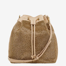 LARGE SPARKLE BUCKET BAG  ROSE GOLD  hi-res