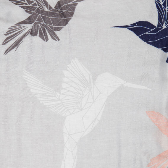 BIRD SCARF  NAVY  hi-res
