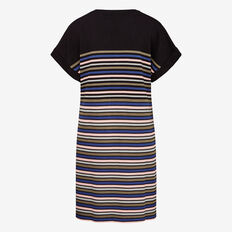 STRIPE SWEATER DRESS  BLACK MULTI  hi-res