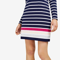 COLOUR BLOCK STRIPE DRESS  NOCTURNAL/MULTI  hi-res