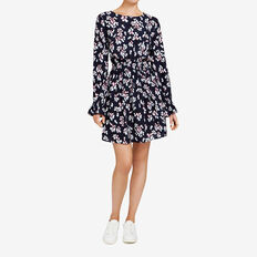 FLORAL DRESS  NOCTURNAL/MULTI  hi-res