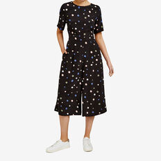 FALLING SPOT JUMPSUIT  BLACK/MULTI  hi-res