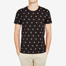 FORTUNE CAT ALL OVER T-SHIRT  BLACK  hi-res