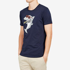 SUAVE SHARK T-SHIRT  MARINE BLUE  hi-res