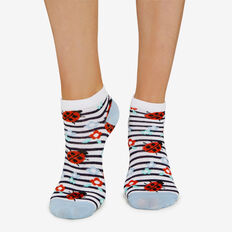 LADYBIRD ANKLE SOCK  WHITE  hi-res