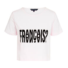 FRANCAIS? SS TEE  ORCHARD ICE/BLACK  hi-res