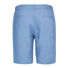 LINEN SHORT  CORNFLOWER BLUE  hi-res