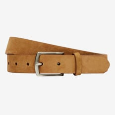 THIN SUEDE LEATHER BELT  TAN  hi-res