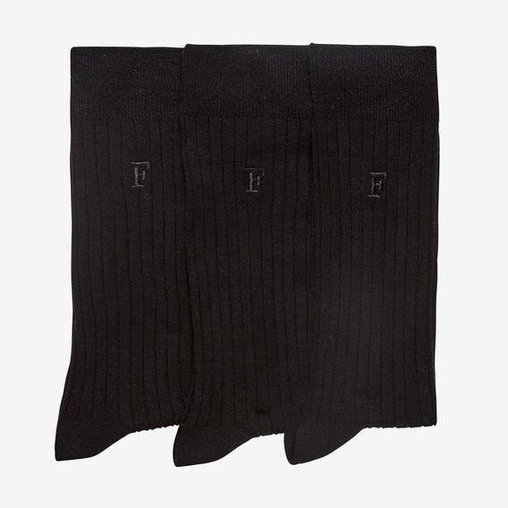 CLASSIC BLACK 3 PACK SOCKS  BLACK  hi-res