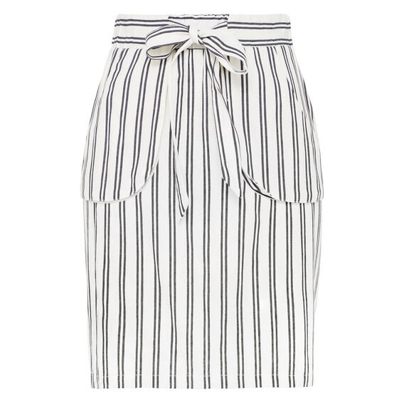 BOARDWALK TIE WAIST SKIRT  SUMMER WHITE/NOCTURN  hi-res