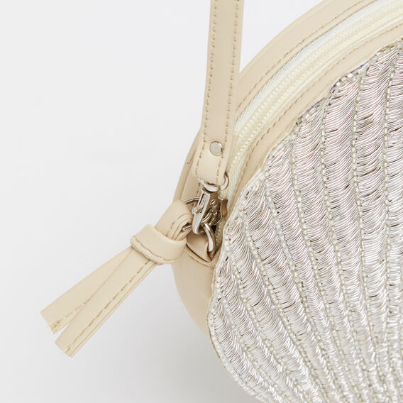 THE SHELL COLLECTOR BAG  SILVER  hi-res