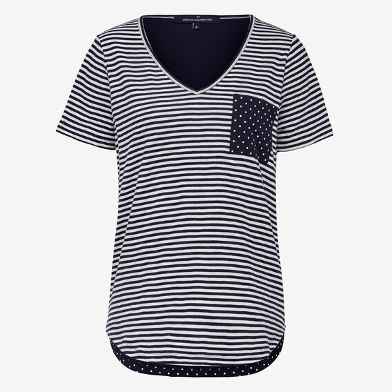STRIPE SPOT TEE  NOCTURNAL/SUMMER WHI  hi-res