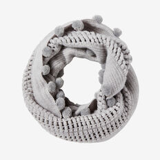 ENDLESS KNIT SCARF  GREY MARLE  hi-res