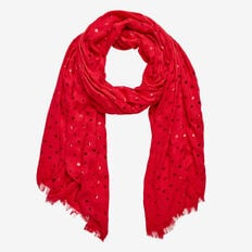 SQUARE FOIL SCARF  RED  hi-res