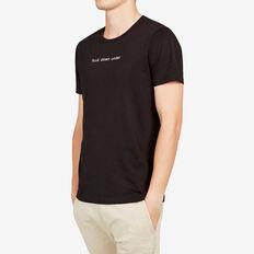 FCUK DOWN UNDER CREW NECK T-SHIRT  BLACK  hi-res