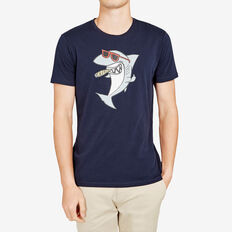 SUAVE SHARK T-SHIRT  MARINE BLUE  hi-res