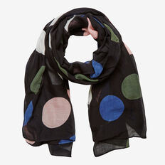 MULTI SPOT SCARF  BLACK MULTI  hi-res