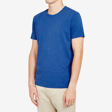 CLASSIC CREW NECK T-SHIRT  FRENCH BLUE MARLE  hi-res