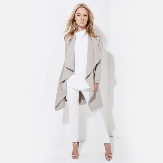 DRAPE SANDS TRENCH  TAUPE  hi-res