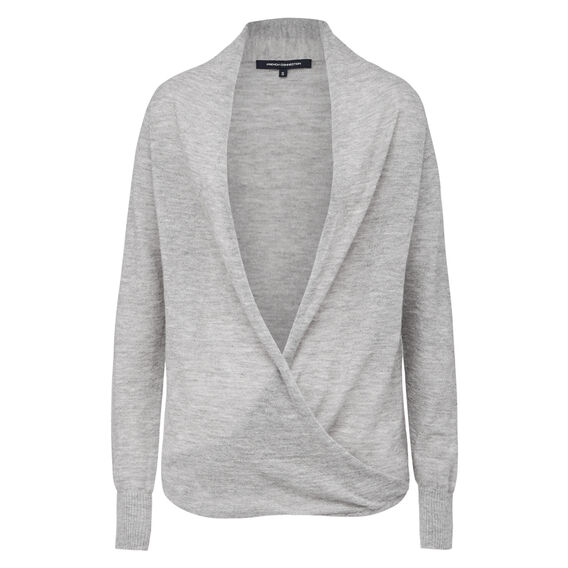 WEATHER WRAP FRONT KNIT  GREY MARLE  hi-res
