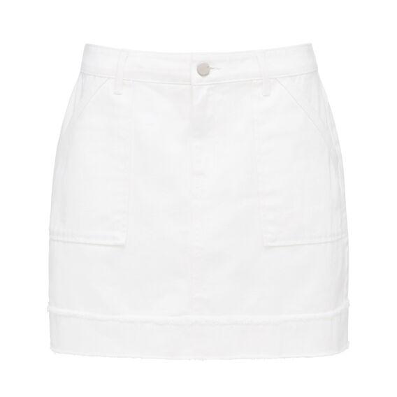 WHITE WASH DENIM SKIRT  WHITE  hi-res