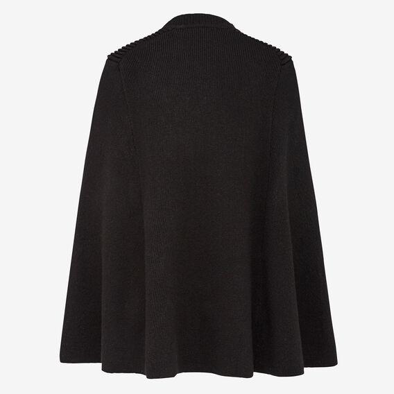 MILITARY STYLE CAPE  BLACK  hi-res