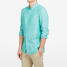 LINEN REGULAR FIT SHIRT  SPEARMINT  hi-res