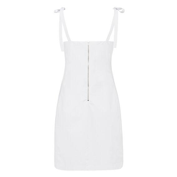 BOW SHOULDER DRESS  SUMMER WHITE  hi-res
