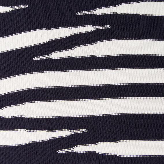 TIGER STRIPE CREW NECK KNIT  MARINE BLUE/FROST  hi-res