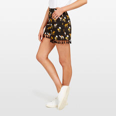 CAMEL PRINTED SHORT  BLACK/MULTI  hi-res