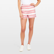 STRIPE JACQUARD SHORT  SUMMER WHITE/RED  hi-res