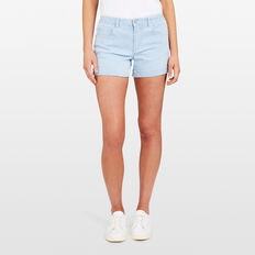 STRIPE DENIM SHORT  SUMMER WHITE/BLUE  hi-res