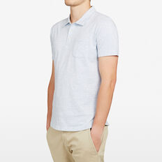 BREEZE STRIPE POLO  SKY BLUE  hi-res