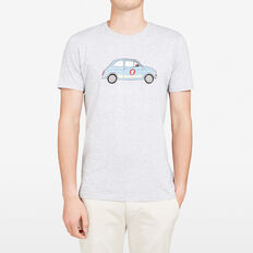 AUTO PLACEMENT CREW NECK T-SHIRT  GREY MARLE  hi-res