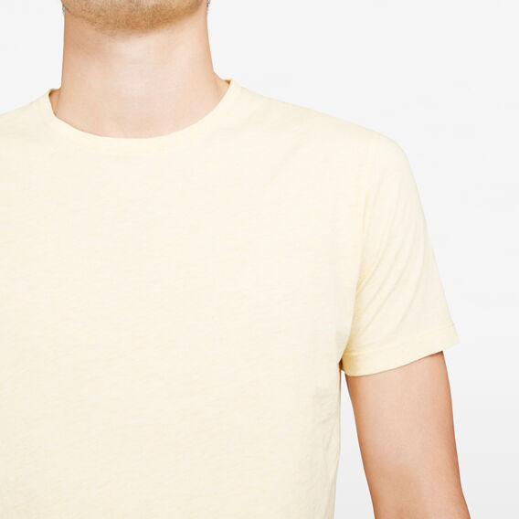 CLASSIC CREW NECK T-SHIRT  YELLOW MARLE  hi-res