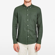 PINE MELANGE SLIM FIT SHIRT  PINE GREEN  hi-res