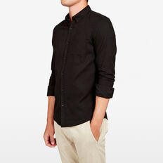 OXFORD SLIM FIT SHIRT  BLACK  hi-res