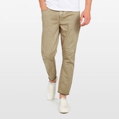 SLIM TAPERED CROP STRETCH JEAN  SAFARI STONE  hi-res