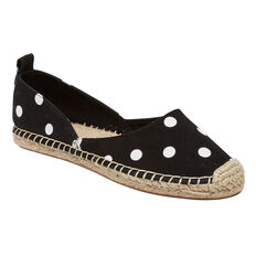 CANVAS ESPADRILLE  BLACK/POLKA DOT  hi-res