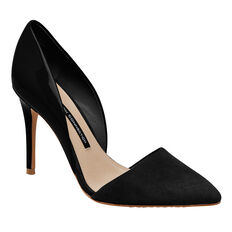 ELVIA SUEDE AND PATENT PUMP  BLACK  hi-res