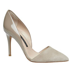 ELVIA SUEDE AND PATENT PUMP  TAUPE  hi-res