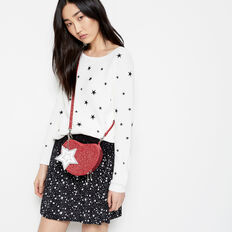 GAZING STAR FLIPPY SKIRT  BLACK/SUMMER WHITE  hi-res