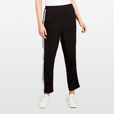 RETRO SIDE STRIPE PANT  BLACK  hi-res