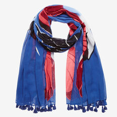 TWIN HUMMINGBIRD SCARF  BLUE MULTI  hi-res