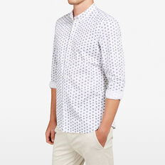 MINI LEAF SLIM FIT SHIRT  WHITE  hi-res